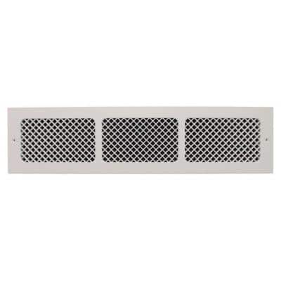 Essex Base Board 30 in. x 6 in. Opening, 8 in. x 32 in. Overall Size, Polymer Resin Decorative Return Air Grille, White