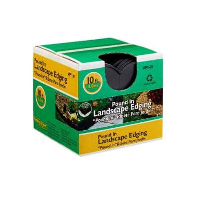 7 in. x 7 in. x 7 in. Black Interlocking Plastic Landscape Edging (10 ft.)