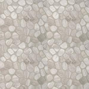 White Oak River Rock 12 in. x 12 in. x 10 mm Tumbled Marble Mosaic Tile (10 sq. ft. / case)