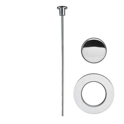 Pop-Up Drain Trim Kit Only for Easy Pop-Up Clog Free Flex Pop-Up Sink Strain Drain in Chrome