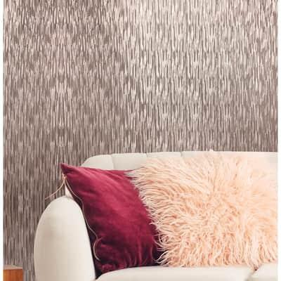 Silken Stria Yellow Wallpaper Sample