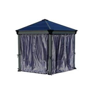 Curtain Set for Roma / Monaco Hex Outdoor Gazebo