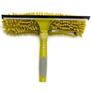 12 in. Window Squeegee Plus Scrubber Combo Attachment with Handle (Includes 10 in., 12 in., 14 in. Squeegee Blades)
