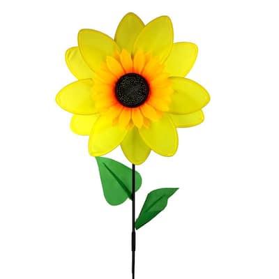 15 in. Nylon Sunflower Yard Pinwheel