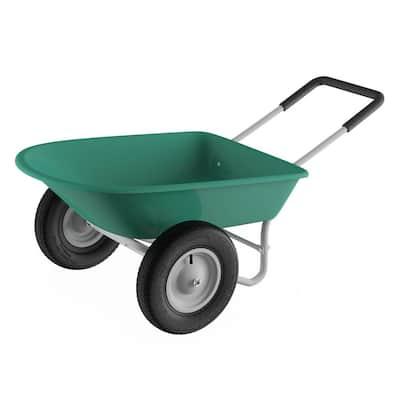 5 cu. ft. 300 lbs. Weight Capacity Heavy-Duty Dual Wheel Wheelbarrow Garden Cart
