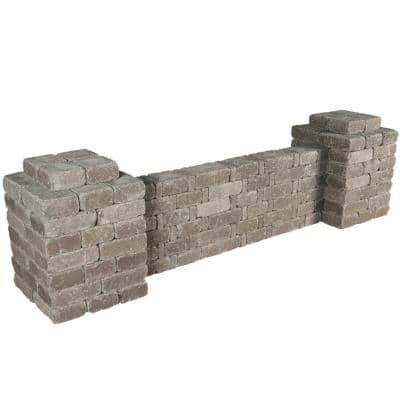 RumbleStone 103 in x 28 in. x 24.5 in. Column/Wall Kit in Greystone