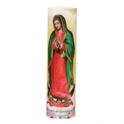 8 in. Virgin of Guadalupe LED Prayer Candle