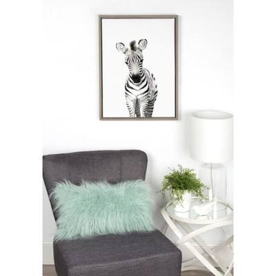 "Sylvie ""Animal Studio Zebra"" by Amy Peterson Framed Canvas Wall Art"