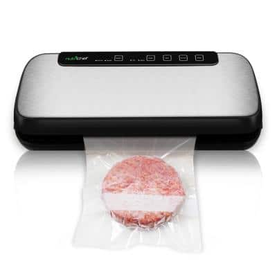 Automatic Vacuum Sealer System - Electric Air Sealing Food Preserver with Stainless Steel Housing