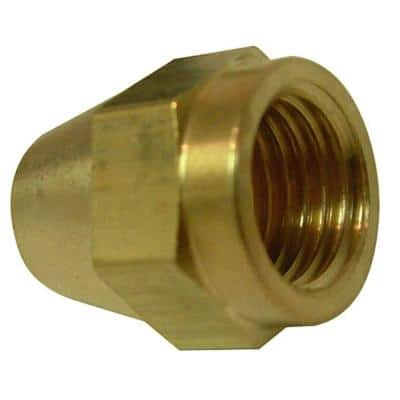 1/2 in. Flare Brass Nut Fitting (2-Pack)