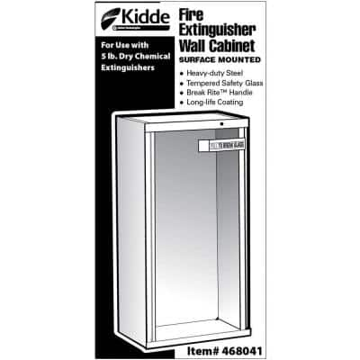 18 in. H x 6 in. W x 6 in. D 5 lb. Heavy-Duty Steel Surface Mount Fire Extinguisher Cabinet in White