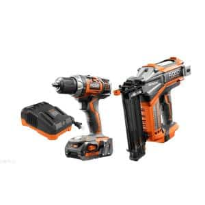 18-Volt Cordless Drill/Driver and Brad Nailer Combo Kit with (1) 2.0 Ah Battery and Charger