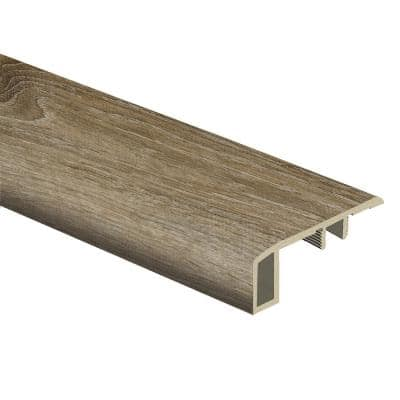 Woodacres Oak/Deerbrook Trail 7/16 in. Thick x 1-3/4 in. Wide x 72 in. Length Vinyl Carpet Reducer Molding