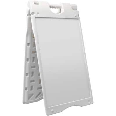 15.7 in. x 26in. White A-Frame Small Signboard
