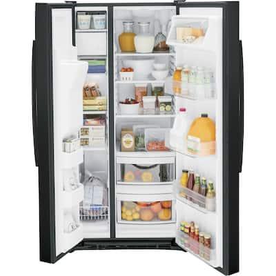 23 cu. ft. Side by Side Refrigerator in Black