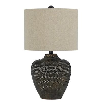 Danbury 22.5 in. Brown Ceramic Table Lamp