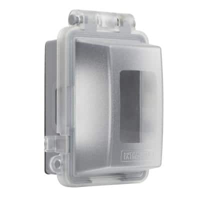 Clear 1-Gang Deep Extra Duty Non-Metallic While-In-Use Weatherproof Horizontal/Vertical Receptacle Cover