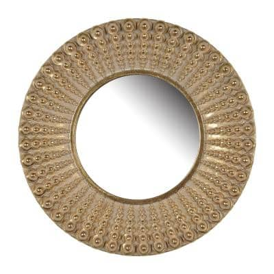Small Round Gold Mirror (14 in. H x 14 in. W)