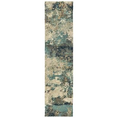 Braxton Multi 2 ft. x 8 ft. Abstract Runner Rug