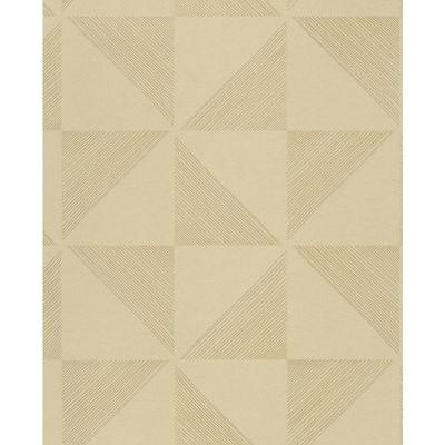 Mont Gold Geometric Wallpaper