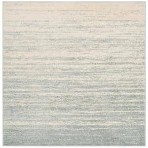 Adirondack Slate/Cream 9 ft. x 9 ft. Square Area Rug