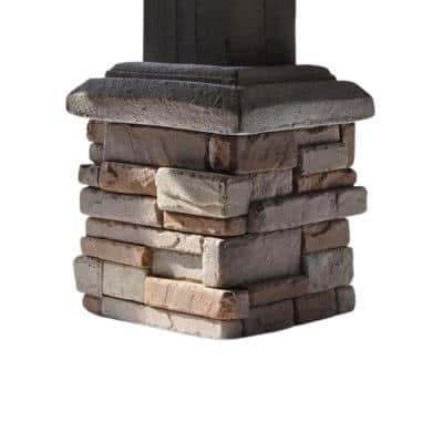 Easy Stack 5 in. x 10 in. x 2 -3/4 in. Elk Creek Manufactured Concrete Post Surround