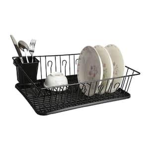 17.5 in. Black Countertop Dish Rack