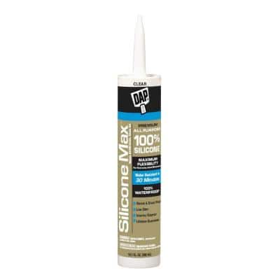 Silicone Max 10.1 oz. Clear Premium Exterior/Interior Window, Door and Siding Silicone Sealant