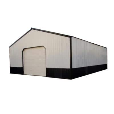 Bridle 30 ft. x 36 ft. x 10 ft. Wood Pole Barn Garage Kit without Floor