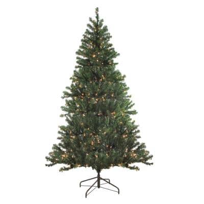 72 in. Pre-Lit Balsam Pine Artificial Christmas Tree with Clear Lights