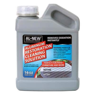 16 oz. Aluminum Restoration Cleaning Solution : Cleaner For Outdoor Patio Furniture, Stainless Steel, and More
