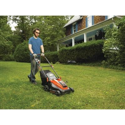 16 in. 40V MAX Lithium-Ion Cordless Battery Walk Behind Push Mower with (2) 2.0Ah Batteries and Charger Included