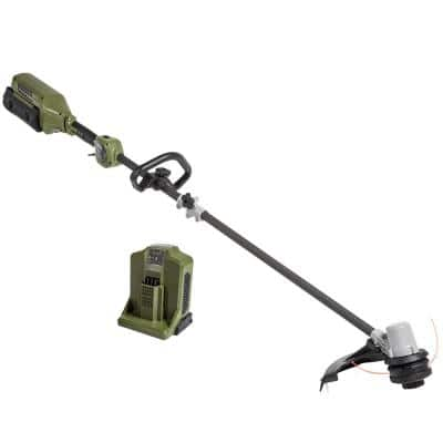 62V 16 in. Cordless Carbon Fiber Shaft String Trimmer Brushless motor and Auto-Wind spool with 2.5AH Battery and Charger