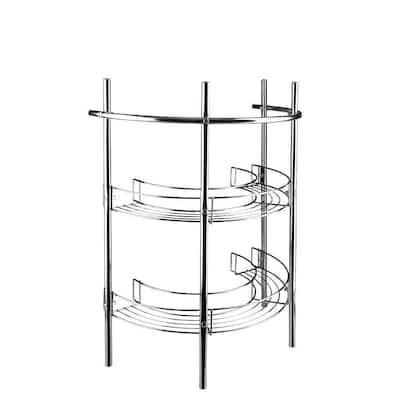 21 in. Pedestal Storage Unit in Chrome