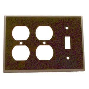 Brown 3-Gang 1-Toggle/2-Duplex Wall Plate (1-Pack)