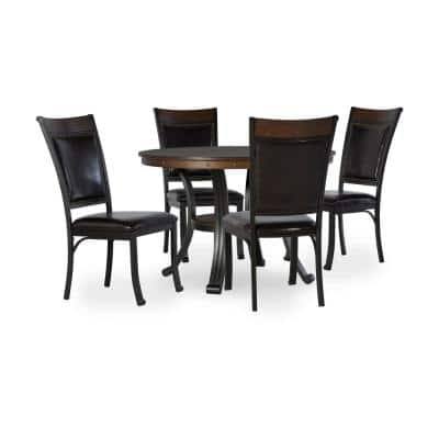 Franklin 5-Piece Rustic Umber Dining Group