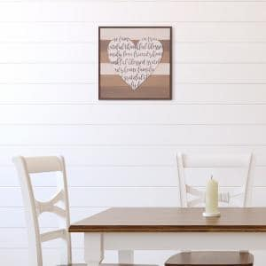 18 in. x 18 in. Thankful, Grateful, Blessed Cut-Out Heart Wood Decorative Sign