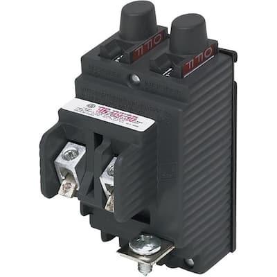 New UBIP Twin 15 Amp/20 Amp 1-Pole Pushmatic Replacement Circuit Breaker