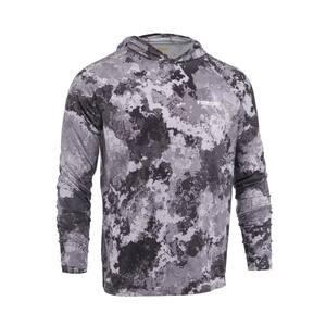 Men's Medium Veil Tac Gray Performance Long Sleeved Hoodie Shirt