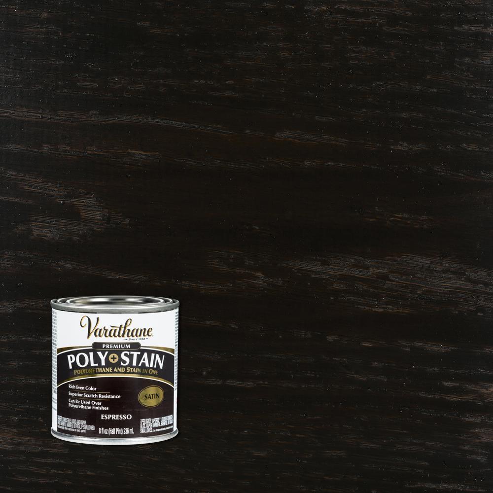 8 oz. Espresso Satin Oil-Based Interior Stain and Polyurethane