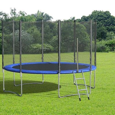 12 ft. Outdoor Trampoline Set Kid Play Jump Garden Trampoline Set Net Head Cover