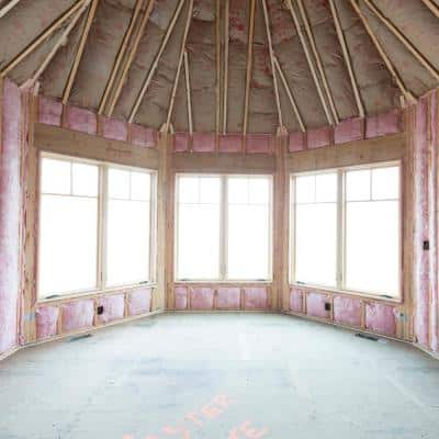 R-30  PINK Cathedral Ceiling Unfaced Fiberglass Insulation Batt 15-1/2 in. x 48 in. (10-Bags)