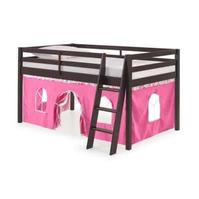 Roxy Espresso with Pink and White Bottom Tent Twin Junior Loft