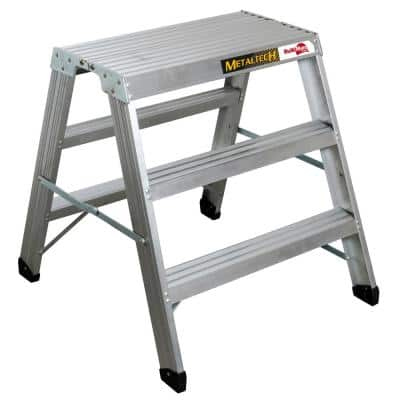 Buildman 2.9 ft. x 2.3 ft. x 3 ft. Aluminum Work Platform with Load Capacity 300 lbs.