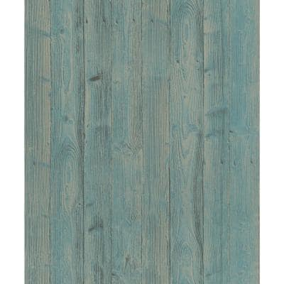 Talbot Green Wood Paper Strippable Roll (Covers 56.4 sq. ft.)