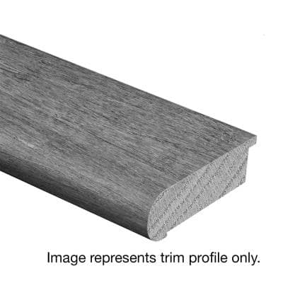 Hickory Sculpted Rich Doeskin 3/4 in. Thick x 2-3/4 in. Wide x 94 in. Length Hardwood Stair Nose Molding Flush
