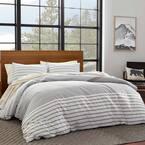 Cooper 3-Piece Beige Striped Cotton King Duvet Cover Set