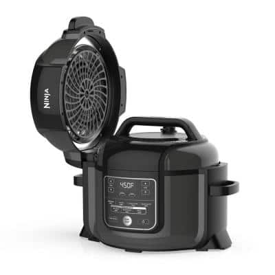 Foodi 6.5 Qt. Black Stainless Electric Pressure Cooker with Tender Crisp Technology