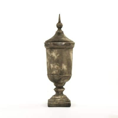 Large Resin Decorative Urn with Top
