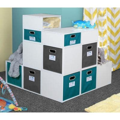 13 in. H x 13 in. W x 13 in. D White Wood Wood 1-Cube Storage Organizer